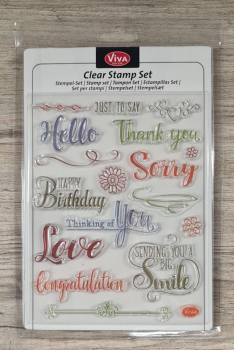 Clear stamps Silikonstempel Just to say 14 x 18 cm