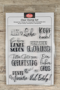 Clear stamps Silikonstempel Alles Liebe 14 x 18 cm