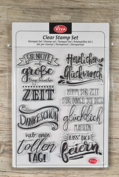 Clear stamps Silikonstempel Lettering deutsch 14 x 18 cm
