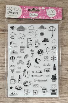 Stampo Planner, Girly, 15 x 24 x 1,1 cm, 53- teilig