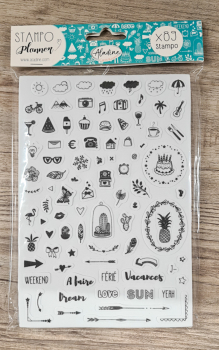 Stampo Planner, Journal, 15 x 24 x 1,1 cm, 89- teilig