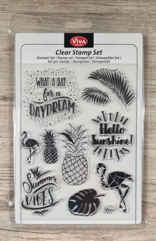 Clear stamps Silikonstempel Sommerstimmung 14 x 18 cm