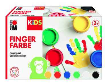 Marabu KiDS Fingerfarbe 6ER-SET, 6 X 100 ML