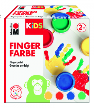 Marabu KiDS Fingerfarbe 4ER-SET, 4 X 100 ML