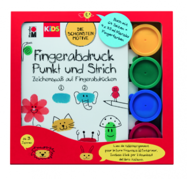 "Marabu KiDS Fingerfarbe ""Fingerabdruck"" Set"