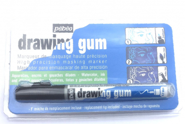 Drawing Gum Stift fein/Rubbelkrepp/Marker 0,7 mm