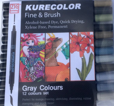 Kurecolor Set 12 Stifte Gray Colours