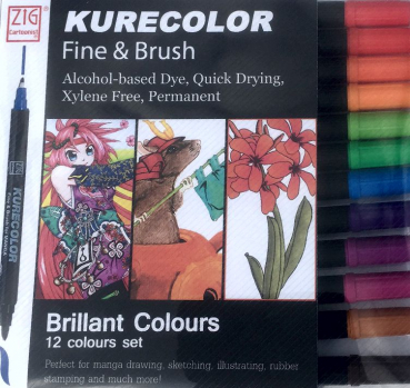 Kurecolor Set 12 Stifte Brilliant Colours