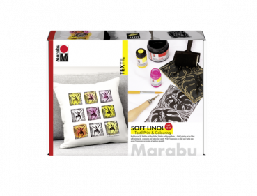 Marabu Textil Soft Linol Print & Colouring Set